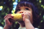 corn on the cob days - girl eating corn